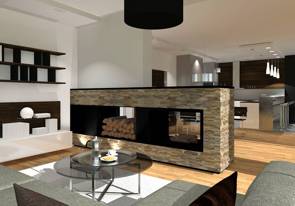 moderne wohnzimmer bilder haus m kamin homify. Black Bedroom Furniture Sets. Home Design Ideas