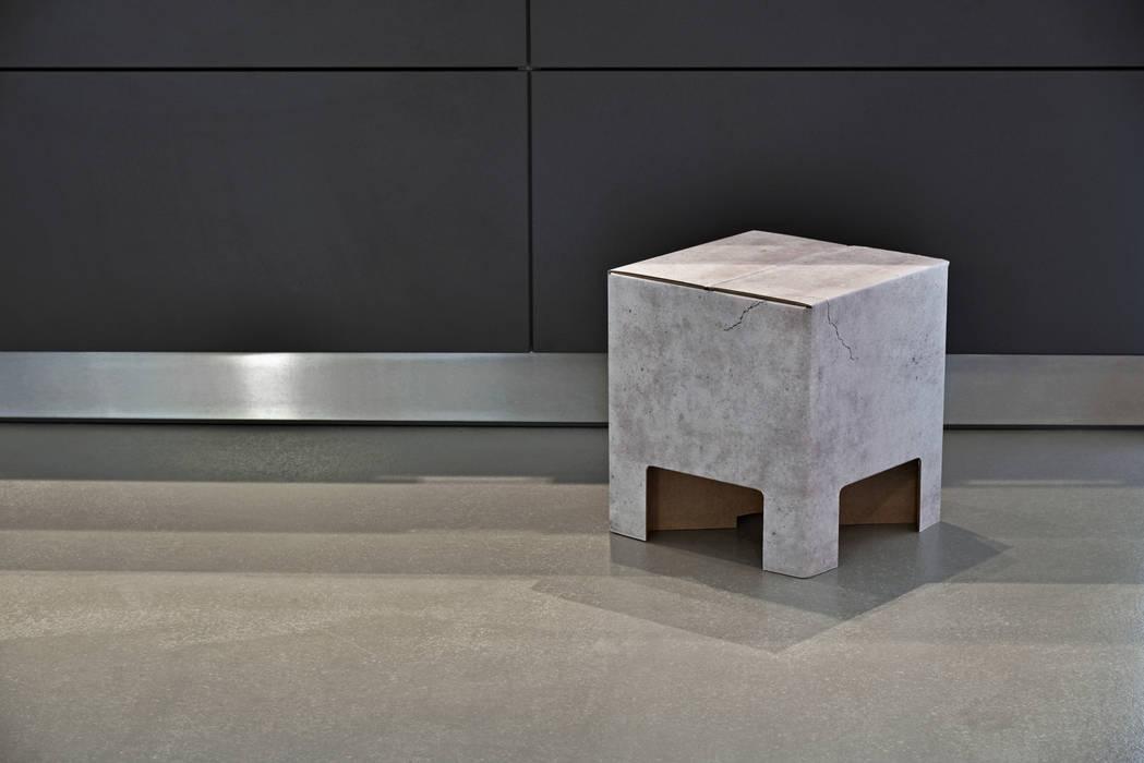 Industriale wohnzimmer bilder concrete dutch design chair for Dutch design chair karton