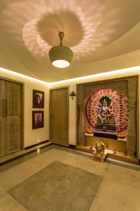 asian Corridor, hallway & stairs by The Orange Lane
