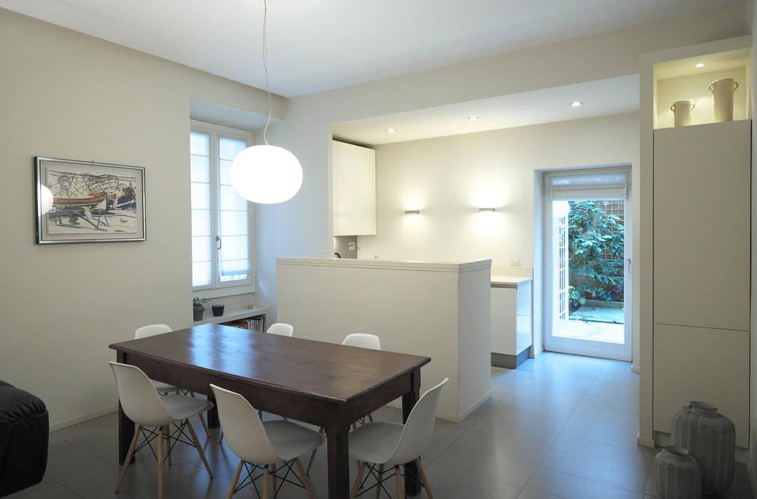 Foto di cucina in stile in stile moderno soggiorno open for Soggiorno cucina open space