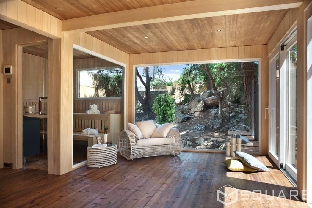 modernes spa bilder saunahaus square xxl als erweiterung der finca fassade wei e hpl platten. Black Bedroom Furniture Sets. Home Design Ideas
