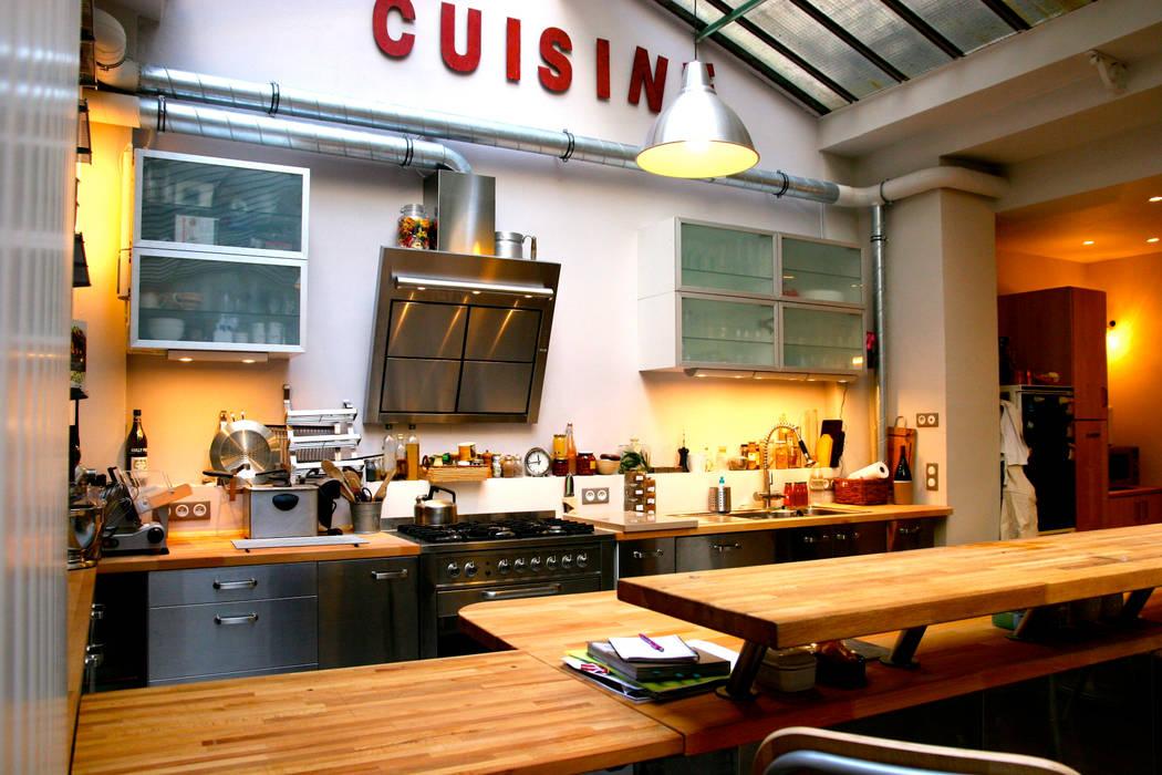 photos de cuisine de style de style industriel loft paris sur homify. Black Bedroom Furniture Sets. Home Design Ideas