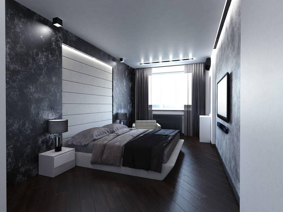 foto di camera da letto in stile in stile minimalista di
