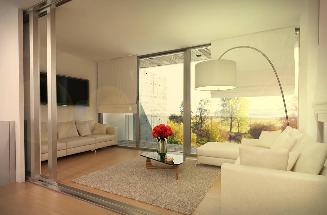 Foto di soggiorno in stile in stile minimalista : vart ...