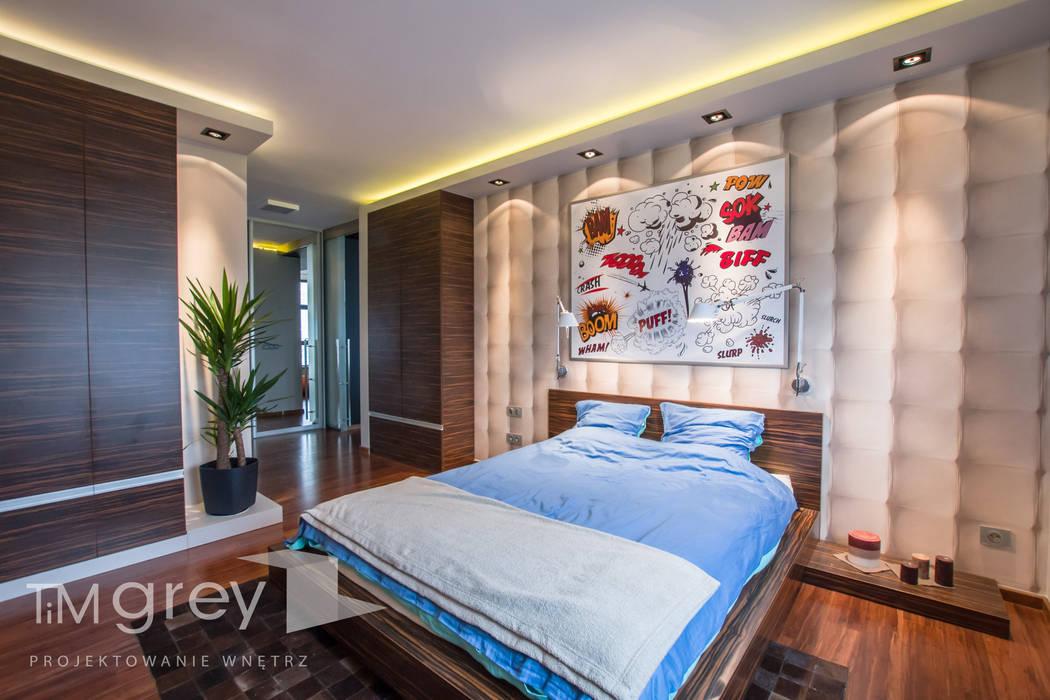 camera da letto in stile in stile moderno di tim grey interior design ...