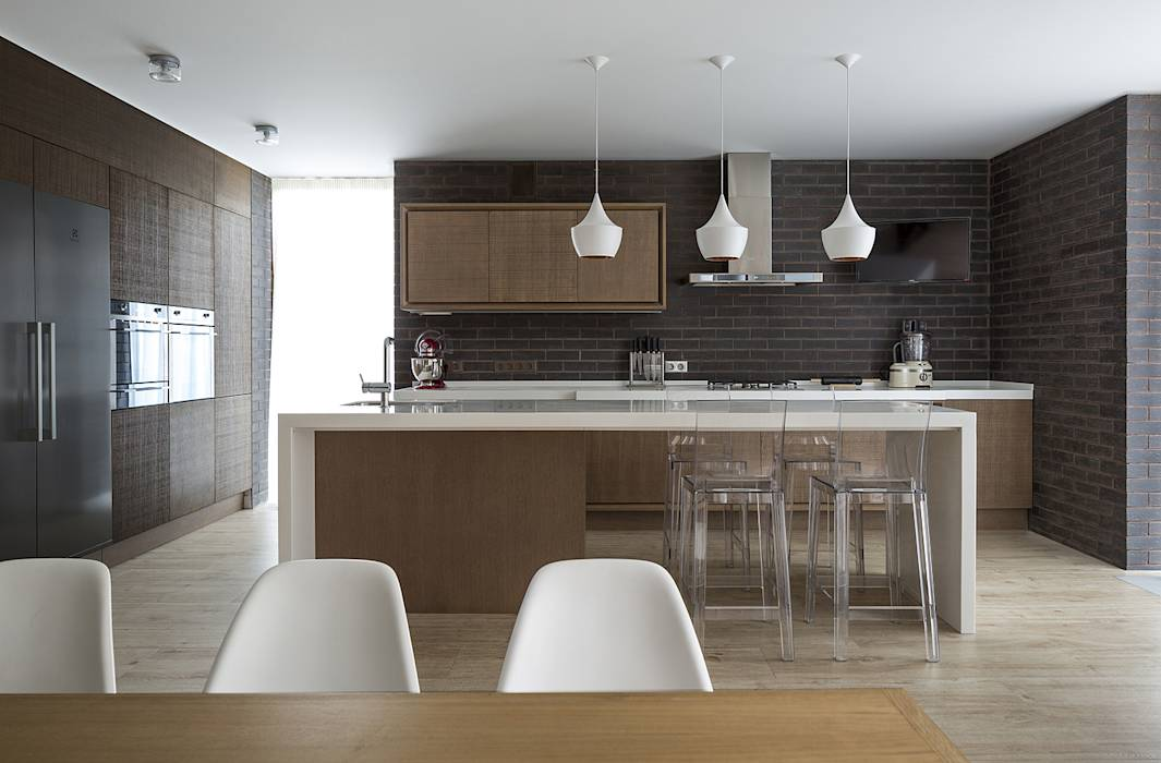 Cocinas de estilo escandinavo por  Aleksandr Zhydkov Architect