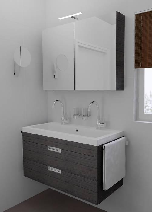 Foto 39 s van een moderne badkamer ondiep badkamermeubel homify - Foto kleine badkamer ...