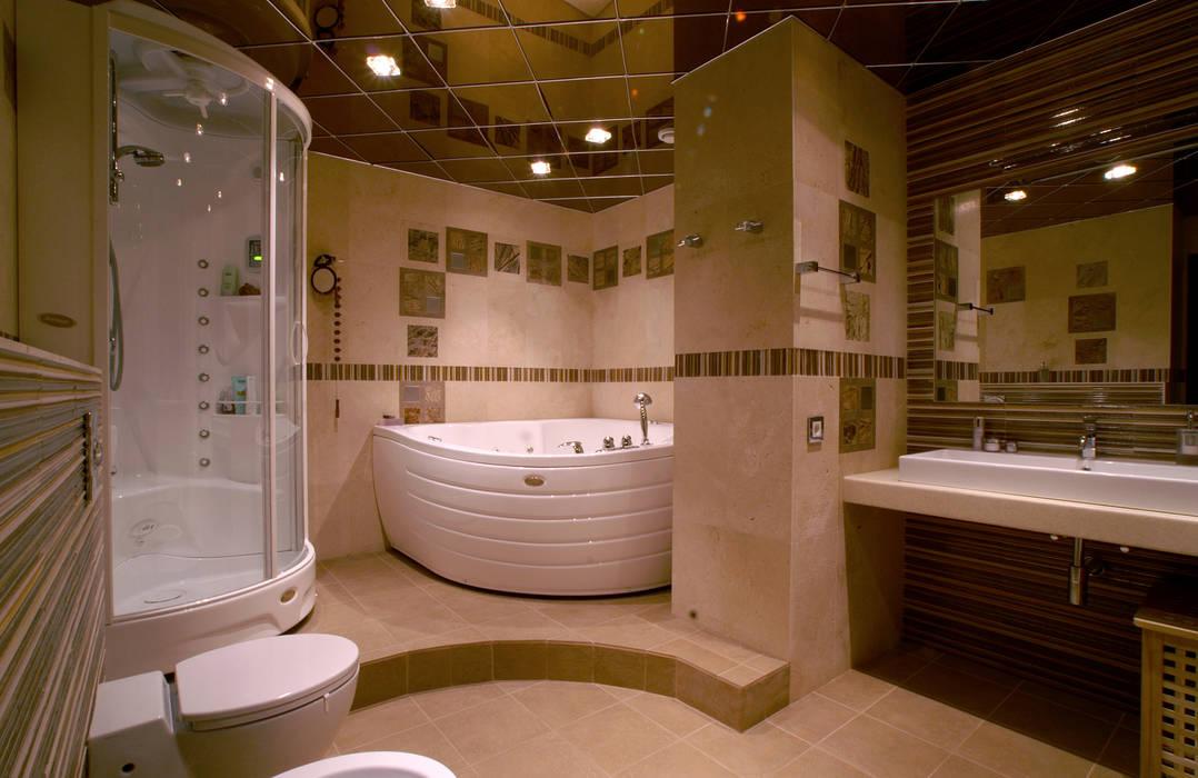 дизайн угловой ванной комнаты в квартире фото