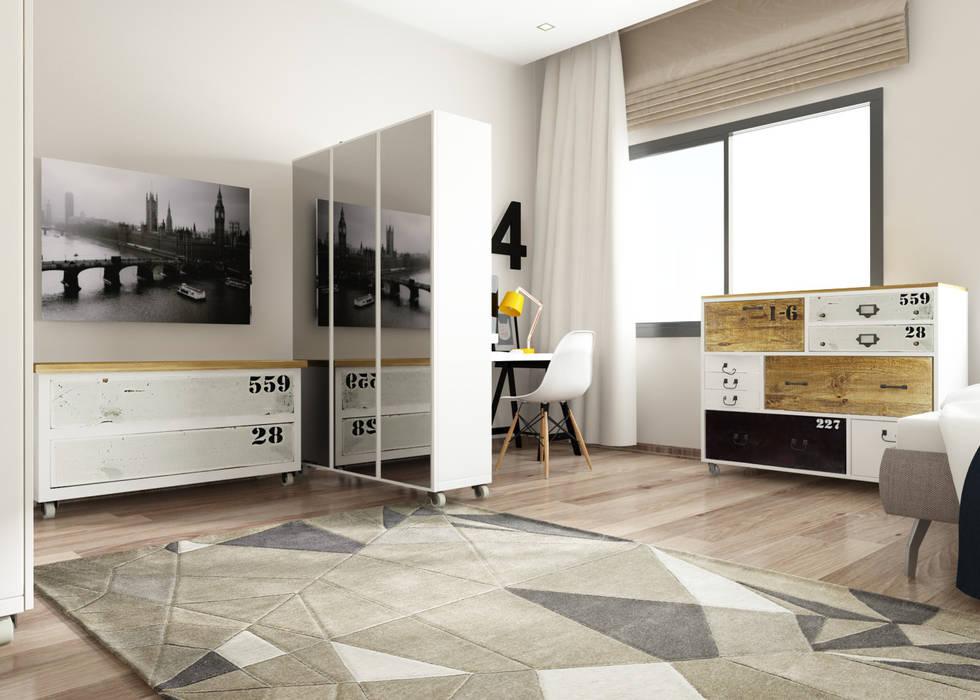 Camera da letto in stile in stile Moderno di ROAS 3d VISUAL ARTS
