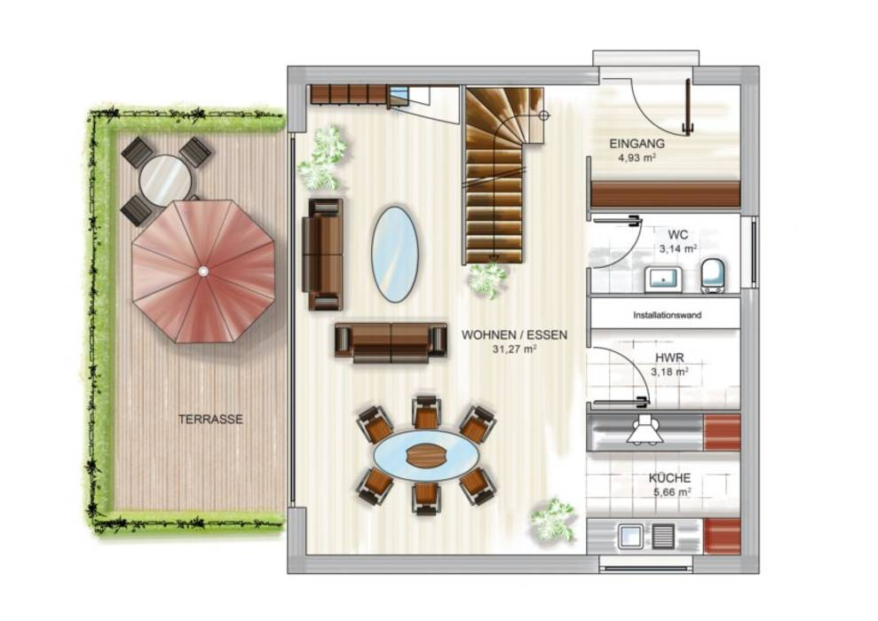 moderne wohnzimmer bilder icon cube grundriss2 homify. Black Bedroom Furniture Sets. Home Design Ideas