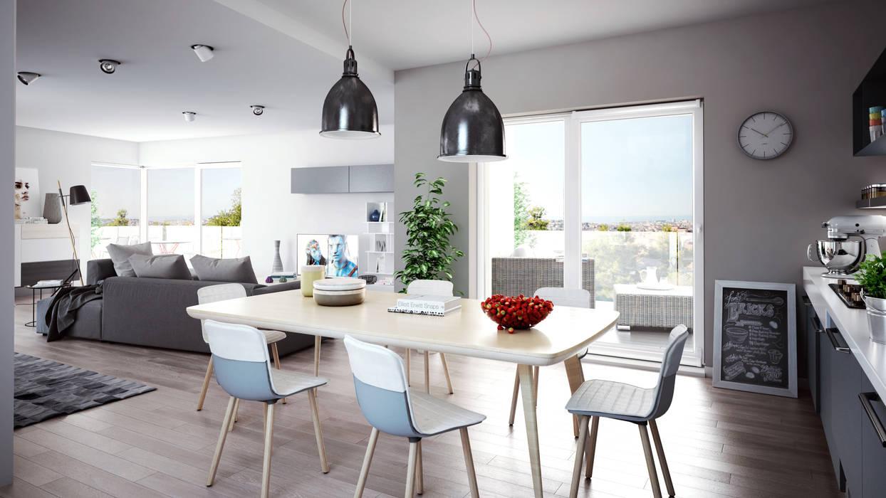 Foto di soggiorno in stile in stile scandinavo : living ...