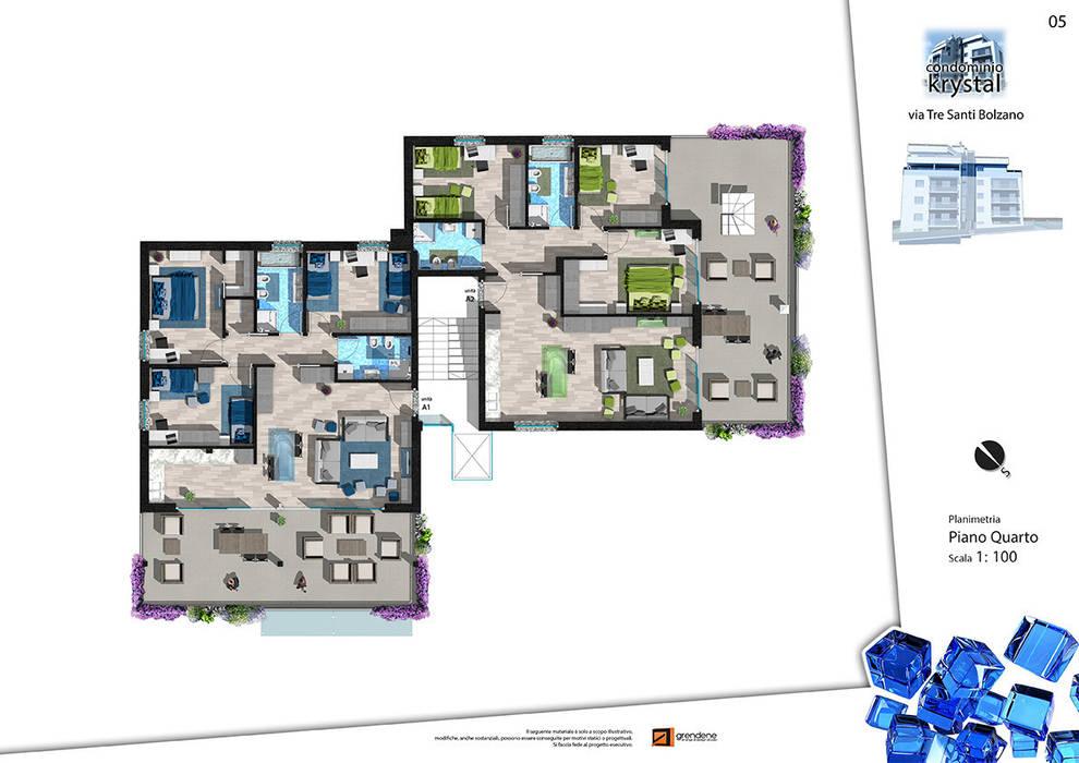 Foto di space in stile pianta piano quarto homify for Sito web design piano piano