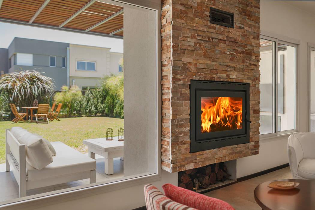 Fotos de livings de estilo moderno hogares insertables for Hogares a lena modernos