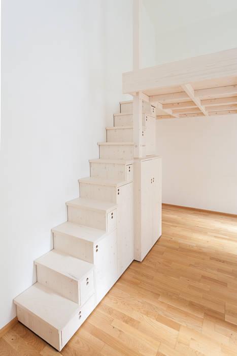 minimalistische Schlafzimmer Bilder: Hochbett mit japanischer ...