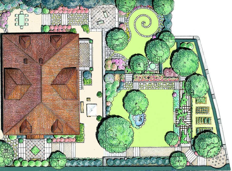 Foto di giardino in stile in stile eclettico progetto - Progetto di un giardino ...