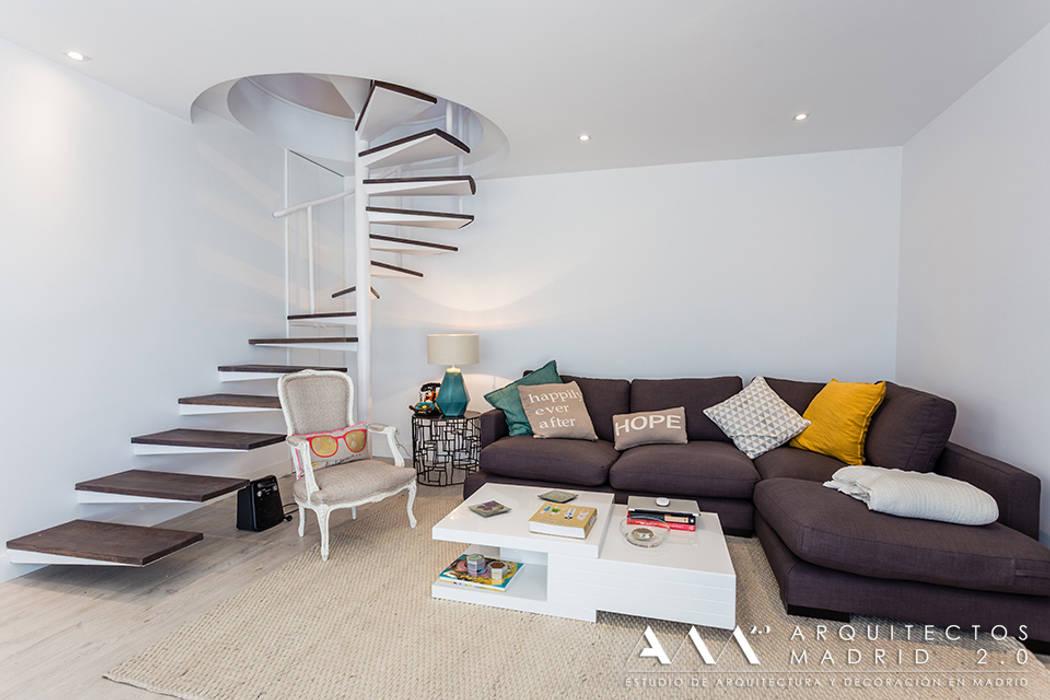 fotos de salones de estilo moderno sal n con escalera de