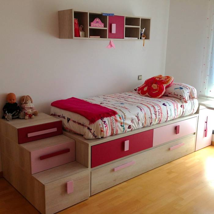 photos de chambre d enfant de style de style moderne par la alcoba homify. Black Bedroom Furniture Sets. Home Design Ideas