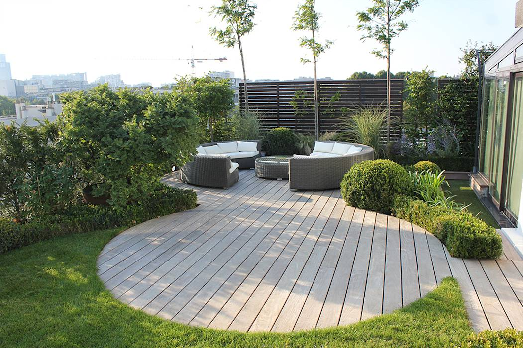 Photos de terrasse de style translation missing for Terrasse jardin moderne