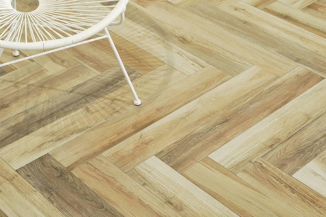 Foto di pareti pavimenti in stile in stile rustico gres porcellanato effetto legno natura - Piastrelle finto legno ...