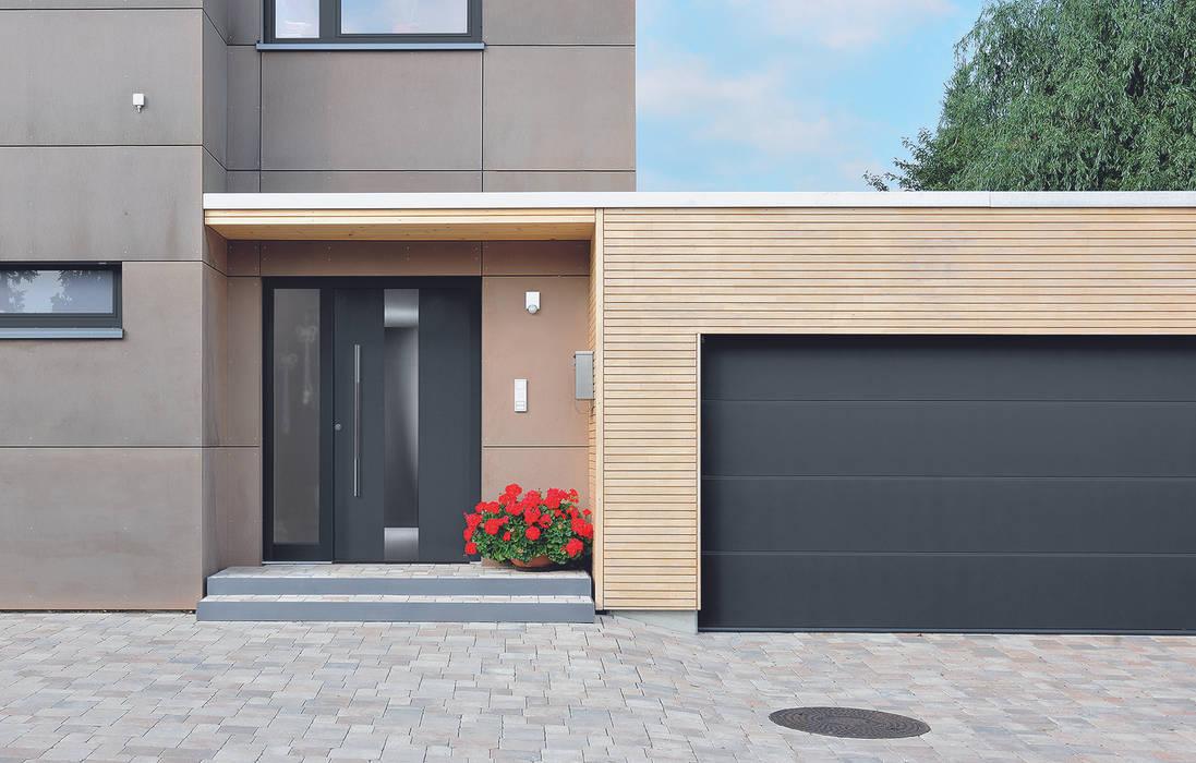 Fotos de puertas y ventanas de estilo moderno de hormann - Porte d entree hormann ...