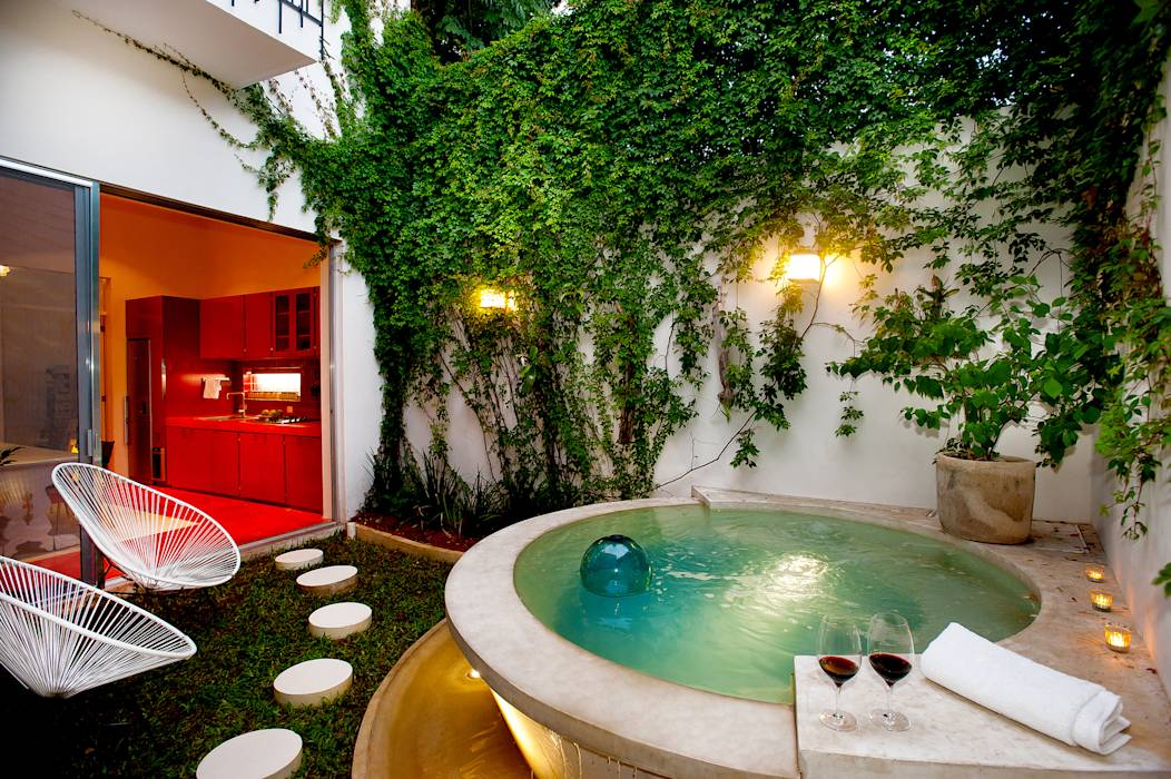 Fotos de piscinas modernas por taller estilo arquitectura for Estilos de piscinas modernas