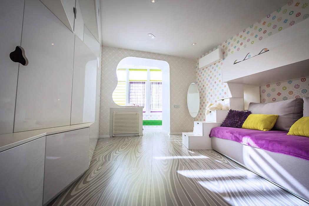 Фото детских комнат и спален в белом цвете.