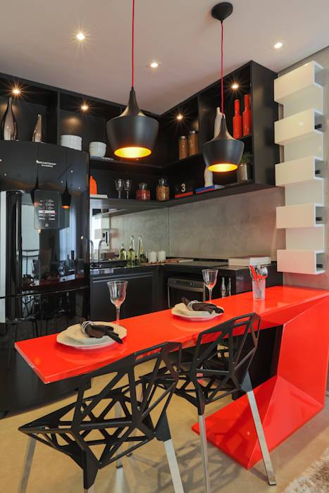 Cocinas de estilo moderno por Chris Silveira & Arquitetos Associados