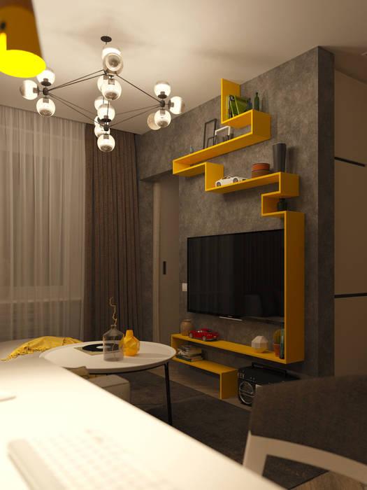 Foto di soggiorno in stile in stile minimalista di wowroom for Soggiorno minimalista
