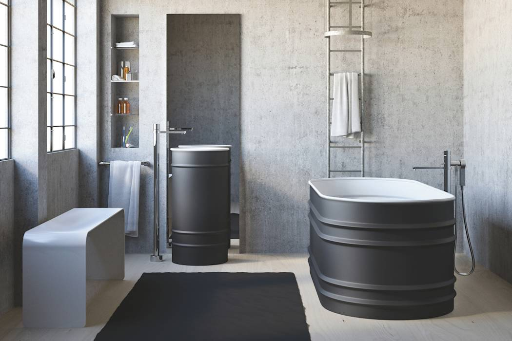 Foto di bagno in stile in stile industriale bagno tool - Bagno stile industriale ...