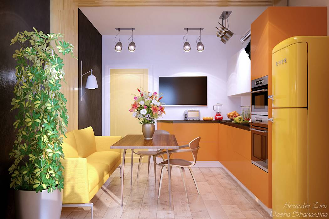 modern Kitchen by Студия интерьерного дизайна Дарьи Шамардиной и Александра Зуева