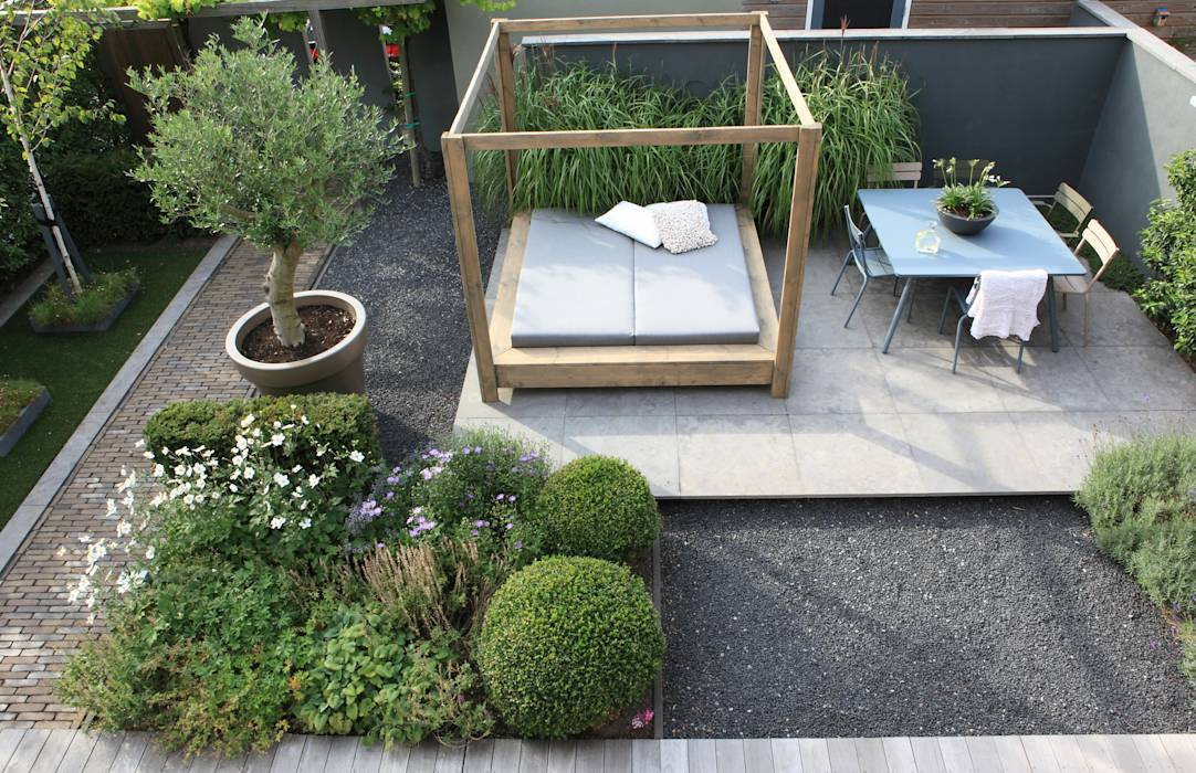 Foto 39 s van een moderne tuin homify - Moderne tuin foto ...