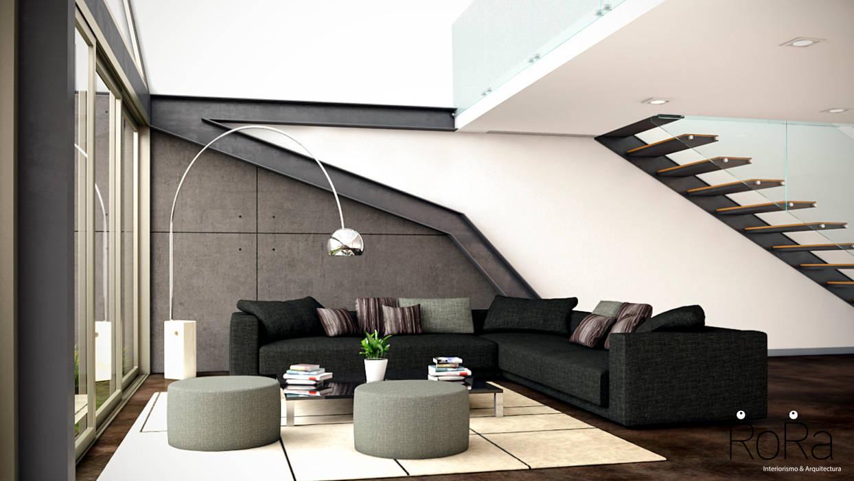 Fotos de salones de estilo moderno de la rora interiorismo arquitectura homify - Fotos de interiorismo ...