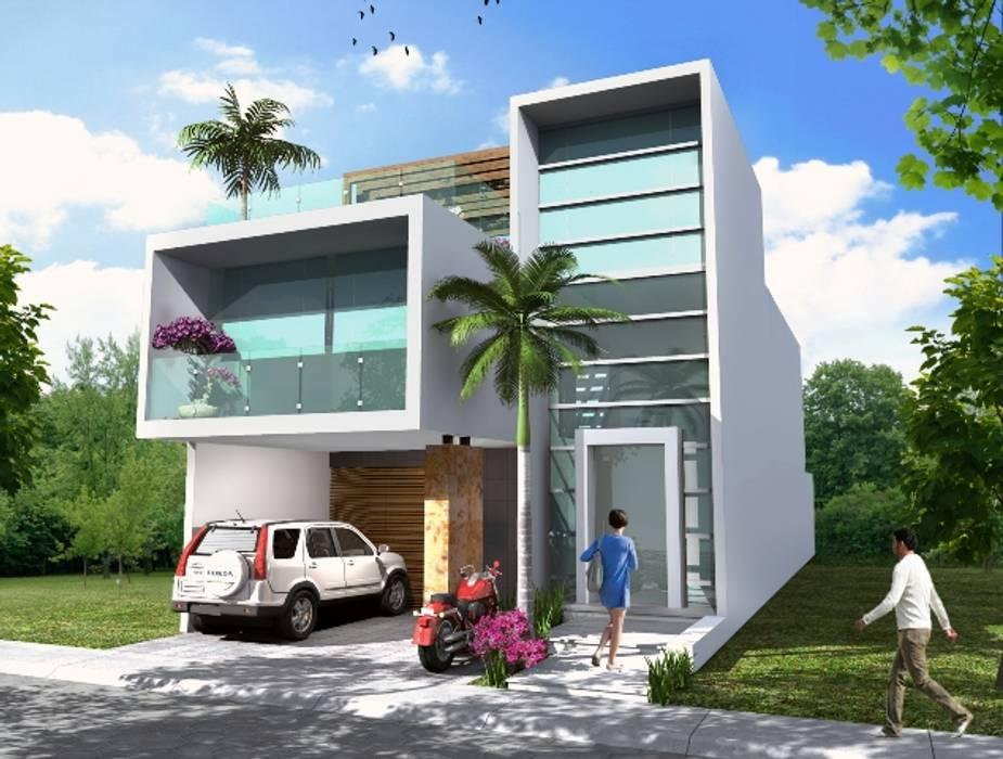 Fotos de casas de estilo minimalista fachada principal for Fachadas estilo minimalista casas