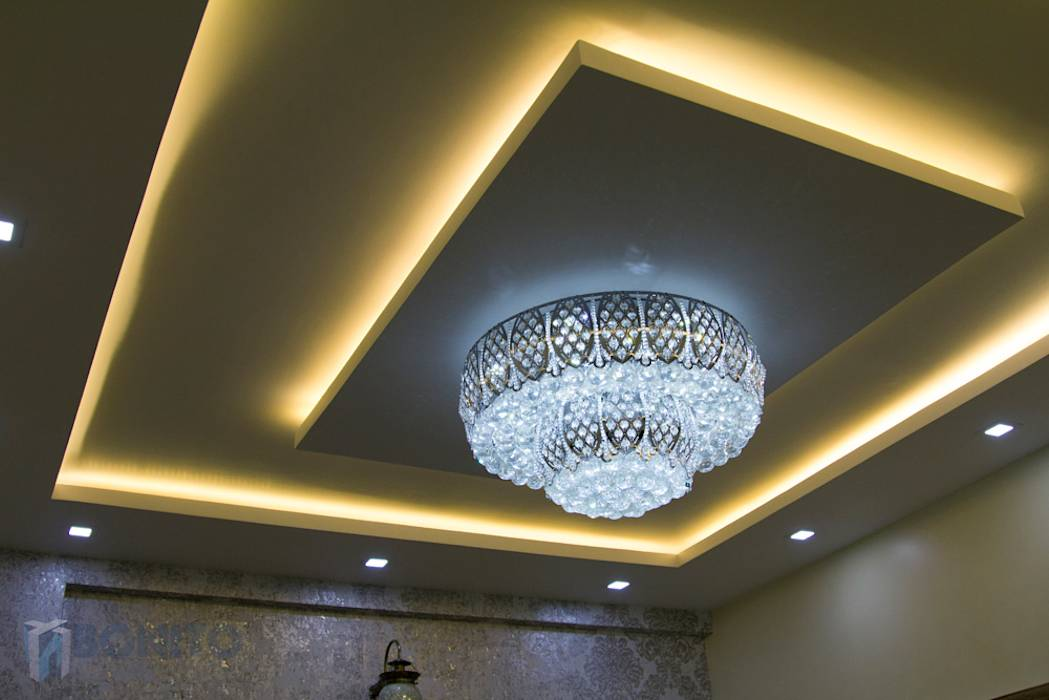 Asian living room photos false ceiling lighting patterns for Foyer ceiling design