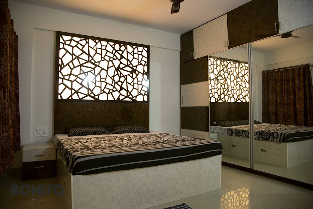Eclectic Bedroom Photos Bedroom Cot Headboard Design With Cnc Pattern Homify