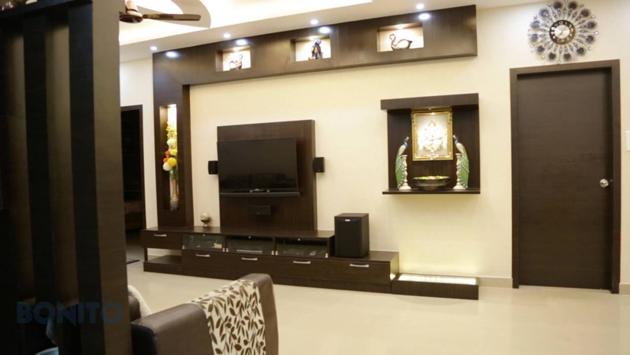 Modern living room photos modular tv unit design with for Living room interior bangalore