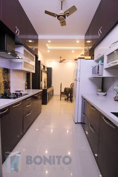 Asian kitchen photos modular parallel kitchen design homify for Modular parallel kitchen designs