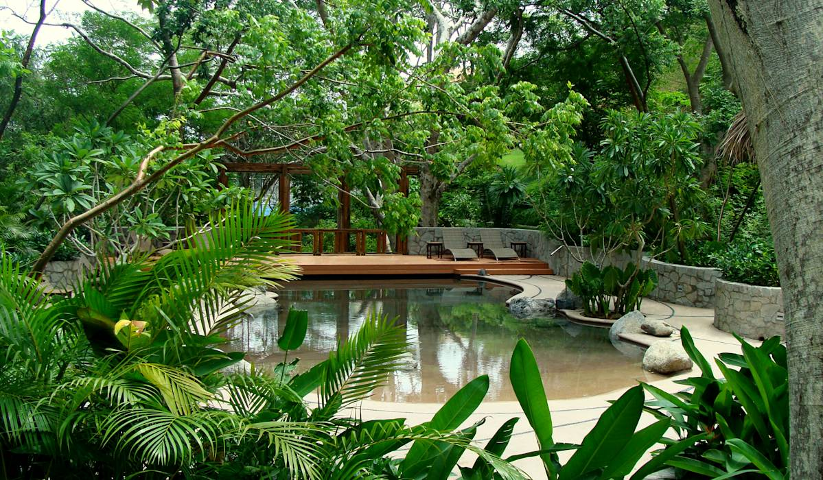 Piscinas de estilo translation missing: cl.style.piscinas.tropical por BR  ARQUITECTOS