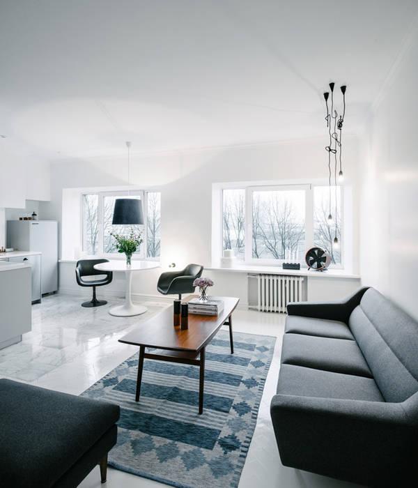 skandinavische wohnzimmer bilder skandinavisches wohnzimmer im alten holzhaus homify. Black Bedroom Furniture Sets. Home Design Ideas