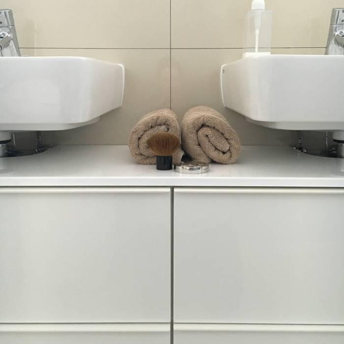 moderne badezimmer bilder ikea individuell waschbecken unterschrank selbst gebaut homify. Black Bedroom Furniture Sets. Home Design Ideas