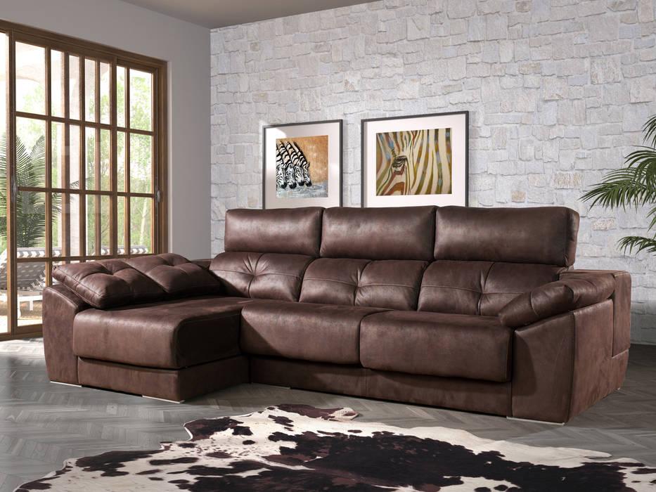 Fotos de salones de estilo moderno sof chaise longue - Sofas de merkamueble ...
