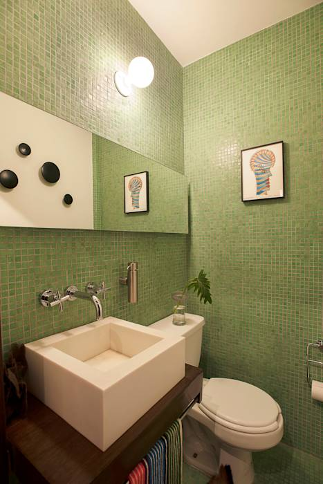 translation missing: eg.style.حمام.modern حمام تنفيذ Germán Velasco Arquitectos