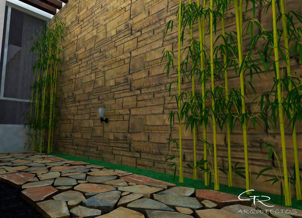 Fotos de jardines de estilo moderno house mundos - Paneles para paredes exteriores ...