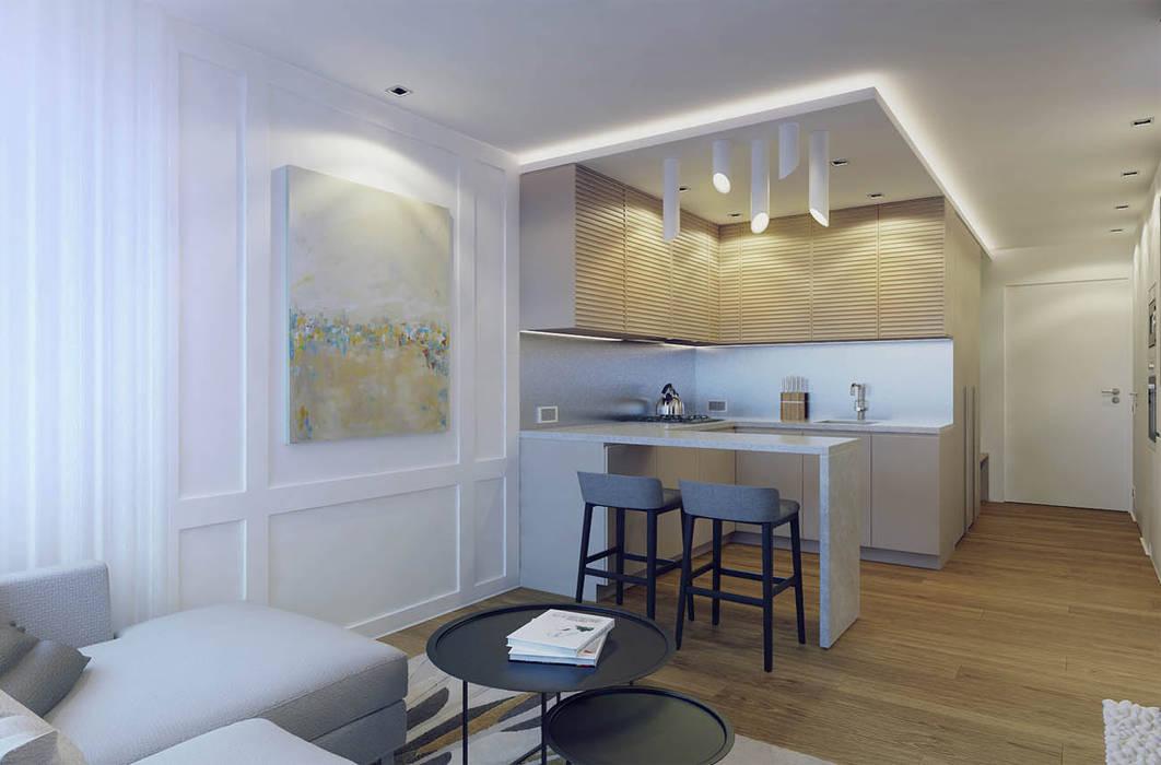 дизайн и ремонт однокомнатной квартиры 40 кв.м фото