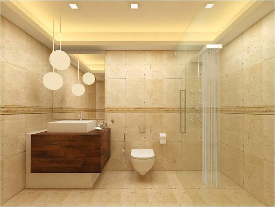 MANTRI ESPANA, BANGALORE. (www.depanache.in): classic Bathroom by Depanache Interior Architects