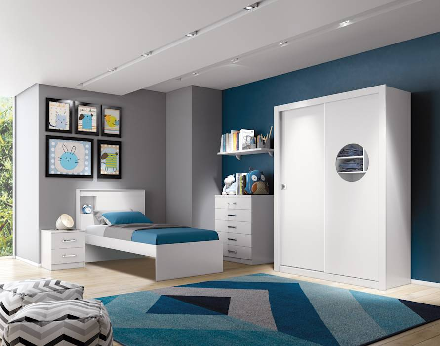 Projekty, translation missing: pl.style.sypialnia.industrialny Sypialnia zaprojektowane przez Henn