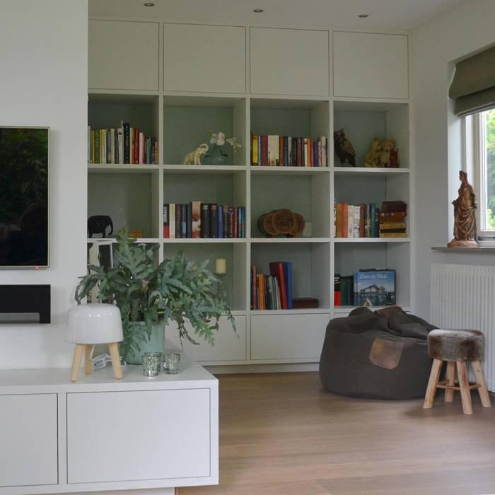 Foto 39 s van een moderne woonkamer interieurontwerp vrijstaande woning homify for Foto van interieurontwerp