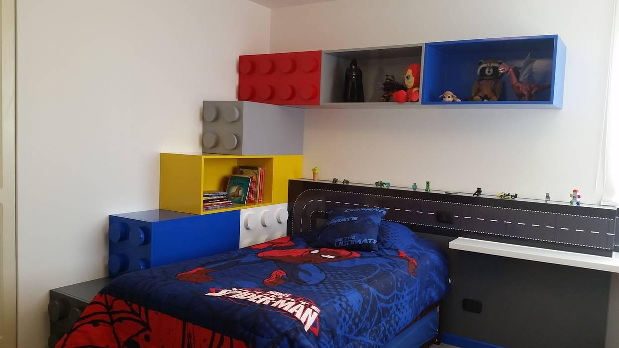 DORMITORIO LEGO: Dormitorios infantiles  de estilo translation missing: pe.style.dormitorios-infantiles-.moderno por ARKILINEA