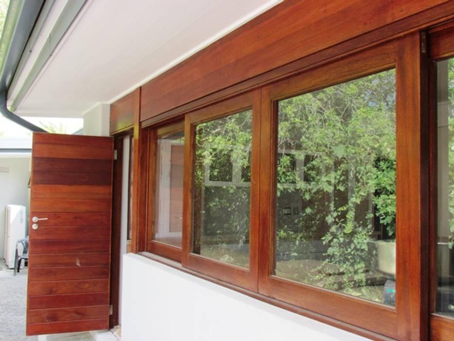 Meranti Double Sliding Window : minimalistic Windows & doors by Window + Door Store Cape