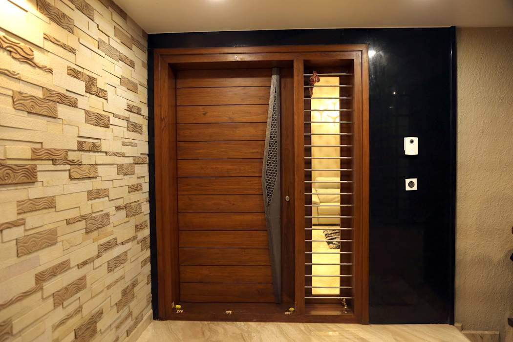 Modern houses photos main entrance door homify for Entrance door design for flats